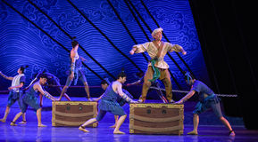 """Command and dispatch-Dance drama """"The Dream of Maritime Silk Road"""". Dance drama """"The Dream of Maritime Silk Road"""" centers on the plot of two royalty free stock images"""