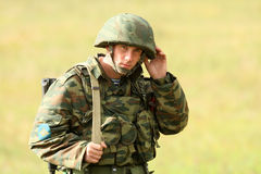 Command post exercises Airborne Division in Russia Royalty Free Stock Photography