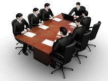 Command of seven businessmans work Royalty Free Stock Images