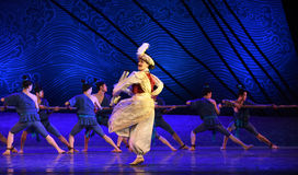 """Command the tow-Dance drama """"The Dream of Maritime Silk Road"""". Dance drama """"The Dream of Maritime Silk Road"""" centers on the plot of two royalty free stock photography"""