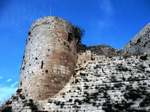 Command Tower of Crak des Chevaliers. Royalty Free Stock Photos