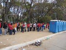 Commandant d'adieu chavez Venezuela Photographie stock libre de droits