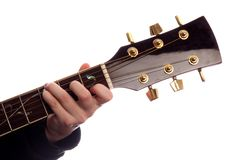Commandant de la corde C de guitare Photo libre de droits