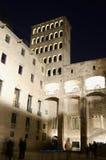 Commandant de la Palau Reial la nuit photographie stock libre de droits