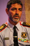Commandant de police catalanne après attaque de Barcelone photo libre de droits