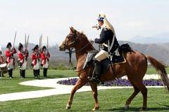 Commandant et soldat Image libre de droits