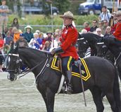 Commandant musical de tour de RCMP Photographie stock libre de droits