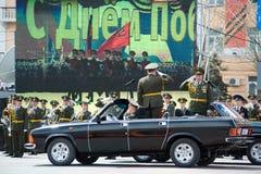 Commandants au défilé Images stock