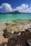 Commandants Bay Beach sur le saint Kitts Photos libres de droits