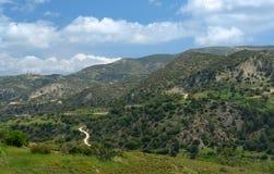 Commandaria hills  in crete Royalty Free Stock Photo
