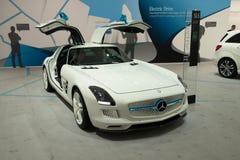 Commande électrique de coupé de Mercedes SLS AMG Photos libres de droits