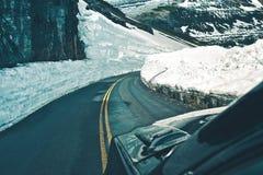 Commande alpine de route image libre de droits