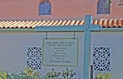 Commande d'église Photo stock