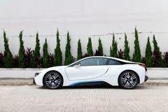 Commande d'essai de BMW i8 2014 photos libres de droits