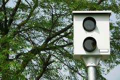 Commande de caméra de vitesse sur la route Photographie stock