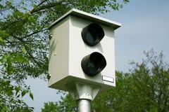 Commande de caméra de vitesse sur la route Photo stock