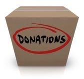 Commande de charité de nourriture de boîte en carton de donations illustration stock