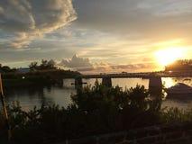 Commande de coucher du soleil Image stock