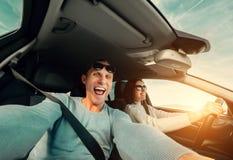 Commande de couples dans la voiture Photo stock