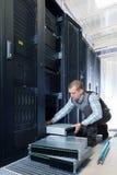 Commande de disques durs dans le système de stockage Photos libres de droits