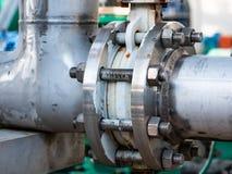 Commande de puissance de valve sur la canalisation images libres de droits