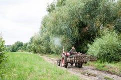 Commande de tracteur Images stock