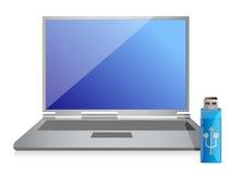 Commande et ordinateur instantanés Photos libres de droits