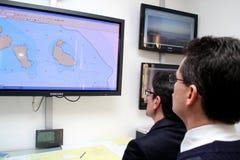 Commande générale de sauvetage pour la côte Concordia Images libres de droits