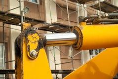 Commande hydraulique d'une machine de construction images libres de droits