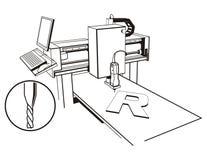 Commande numérique par ordinateur illustration libre de droits