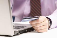 Commande par la carte de crédit Photo libre de droits