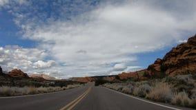 Commande par le canyon de neige en Utah banque de vidéos