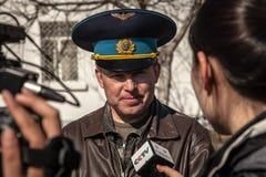 Commander of Belbek military base Stock Photos