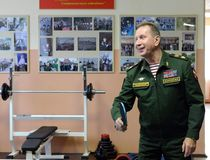 The commander-in-chief of the internal troops of the Ministry of Internal Affairs of Russia, General of the Army Viktor Zolotov, p. MOSCOW, RUSSIA - FEBRUARY 17 Stock Images