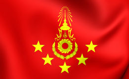 Commander-in-Chief of the Royal Thai Army Flag. Commander-in-Chief of the Royal Thai Army 3D Flag. Close Up Stock Photo