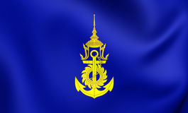 Commander-in-Chief of Royal Thai Navy Flag Stock Images