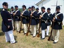 commander hans fackliga soldater Royaltyfria Bilder