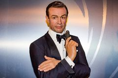 Sean Connery - James Bond wax statue, Madame Tussaud`s Museum Vienna. Commander James Bond, CMG, RNVR, is a fictional character created by the British journalist royalty free stock images