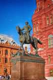 Commander, Marshal Georgy Zhukov. The hero of the second world war. The monument in the center of Moscow. Stock Image