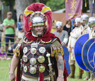 Commander of a roman camp Royalty Free Stock Photos
