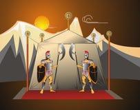 commanderguarden tjäna som soldat tenten Royaltyfri Fotografi