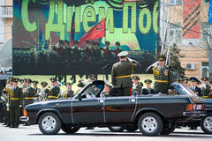 Commanders at parade Stock Images