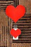Commandes d'instantané d'USB avec des formes de coeur Photo libre de droits