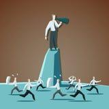 Commandes de cri de cadre supérieur d'homme d'affaires par a illustration libre de droits