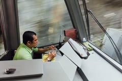 Commandez le monorail d'entraînement jusqu'au dessus de la colline de Penang chez George Town Penang, Malaisie Photographie stock