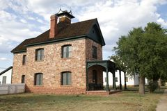 Commanding Officer`s quarters - Ft. Apache. The former quarters of the Commanding Officer on Fort Apache, Arizona, now maintained and controlled by the Apache Stock Image