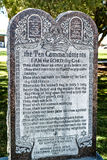 commandments tio Royaltyfri Bild