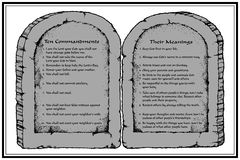 commandments tio Royaltyfri Fotografi