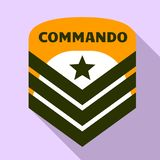 Commando air star logo, flat style. Commando air star logo. Flat illustration of commando air star vector logo for web design vector illustration