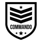 Commando badge logo, simple style. Commando badge logo. Simple illustration of commando badge vector logo for web design isolated on white background stock illustration